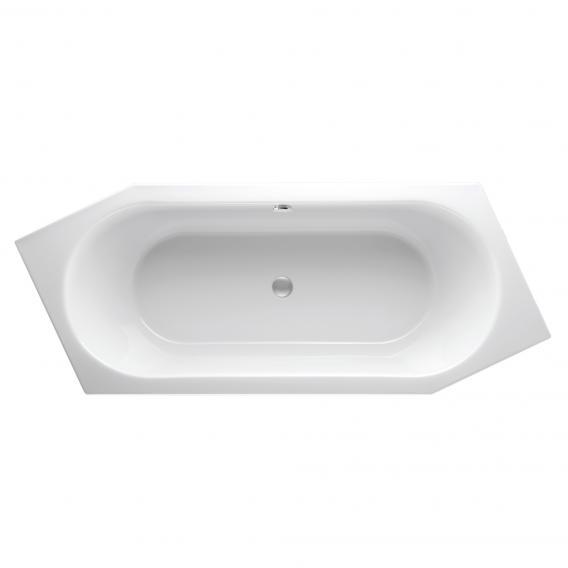 Mauersberger ovata asym Sechseck-Badewanne, Einbau weiß