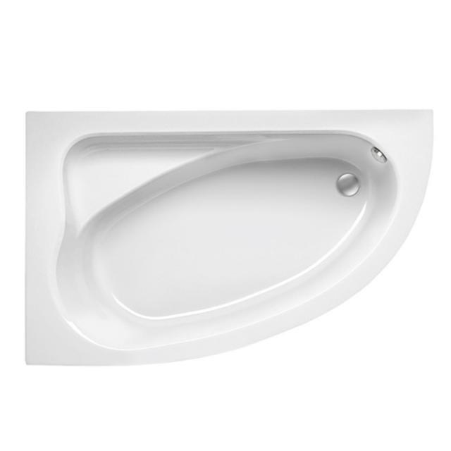 Mauersberger aspera Eck-Badewanne, Einbau weiß