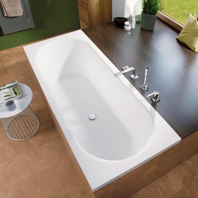 Mauersberger ausana Rechteck-Badewanne, Einbau weiß