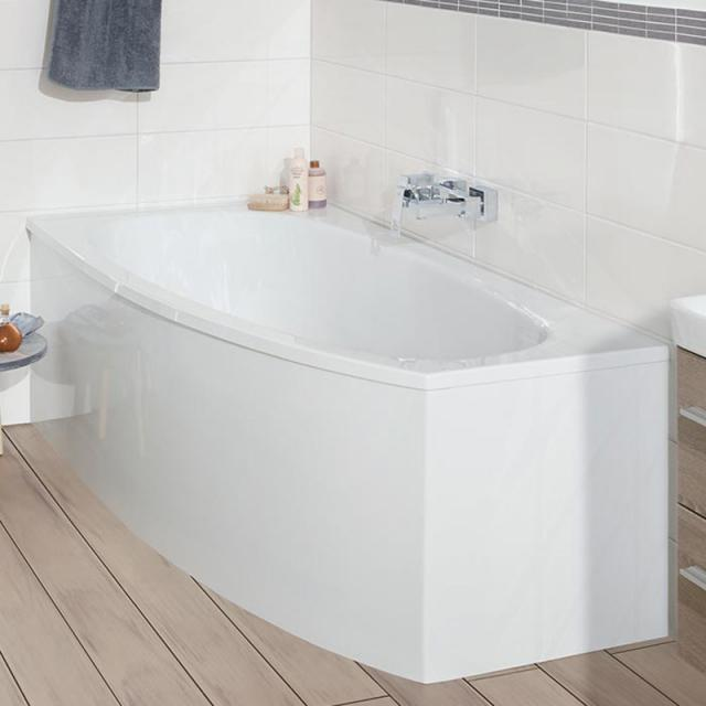 Mauersberger bombax Raumspar-Badewanne, Einbau weiß