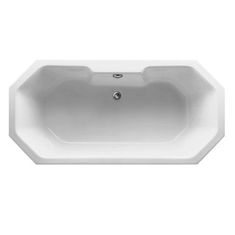 Mauersberger grandis Achteck-Badewanne, Einbau weiß