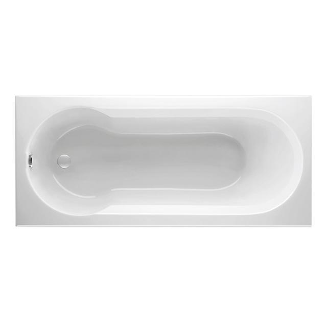 Mauersberger idria Rechteck-Badewanne mit Duschzone, Einbau weiß