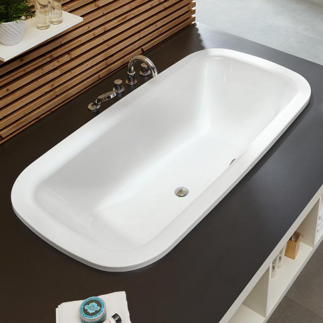 Mauersberger nivalis Oval-Badewanne weiß