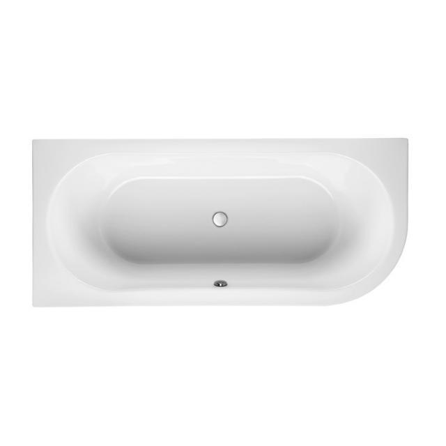 Mauersberger primo 1 Eck-Badewanne, Einbau weiß