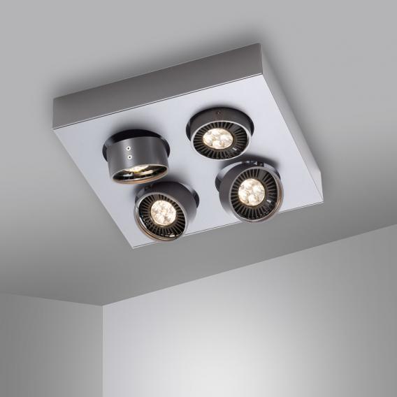 mawa LED Aufbaustrahler eckig 4-flammig