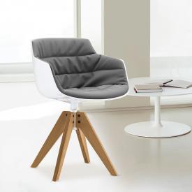 MDF Italia FLOW SLIM Sessel mit Füßen, drehbar