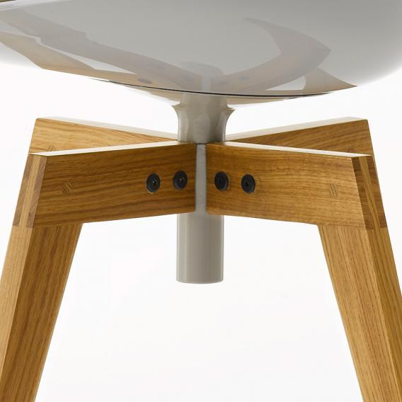 MDF Italia FLOW Stuhl mit Füßen, drehbar