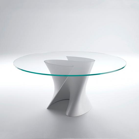 MDF Italia S TABLE Esstisch mit Glasplatte