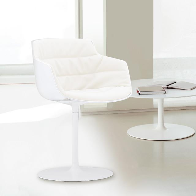MDF Italia FLOW SLIM Sessel mit Mittelfuß, drehbar