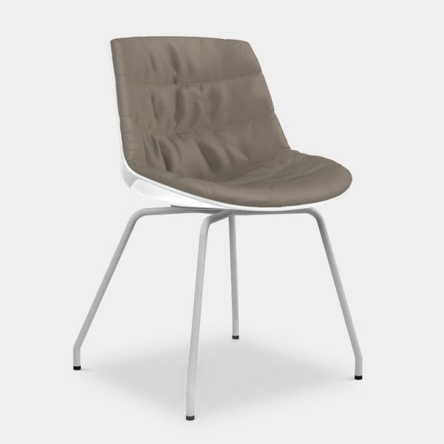 MDF Italia FLOW Stuhl mit Beinen aus Stahl