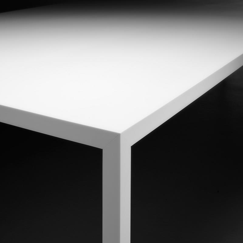 Tischplatte weiß matt  MDF Italia TENSE Esstisch - F042501P026D036S005 | REUTER