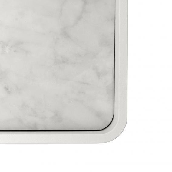 Menu Duschablage mit Marmorplatte weiß