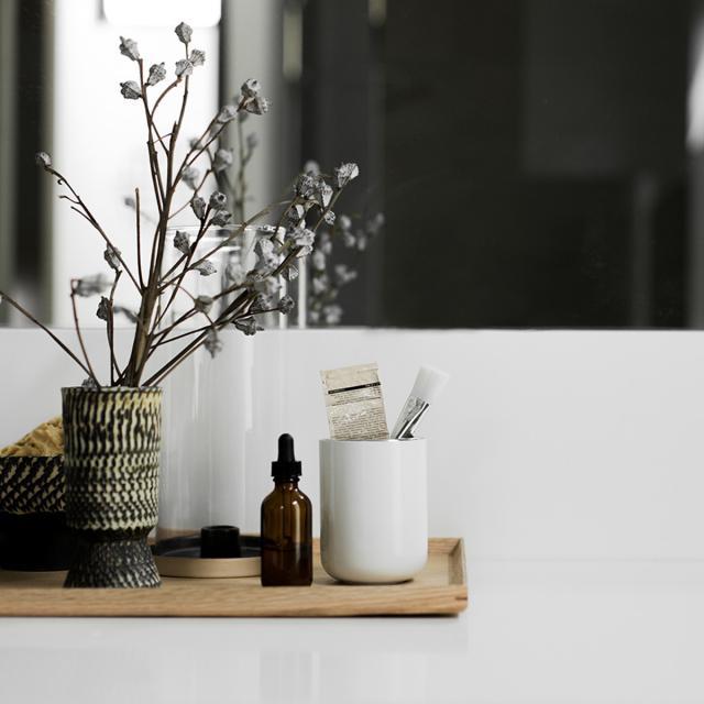 Menu Zahnbürstenbehälter weiß glanz/edelstahl gebürstet