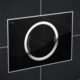 MEPA Zero Betätigungsplatte mit Designoberfläche, mit 2-Mengen-Spültechnik glas schwarz