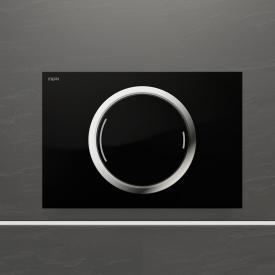 MEPA Zero Betätigungsplatte, teileingelassen, mit 2-Mengen-Spültechnik schwarz