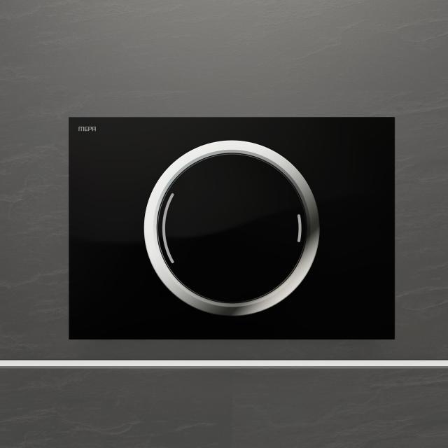 MEPA Zero Betätigungsplatte, teileingelassen, mit 2-Mengen-Spültechnik schwarz/chrom
