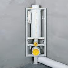 Missel Kompakt-Spülrohr MSR-M 6 Liter für Wand-WC, H: 96 cm, mit Mittelfuß zur Verwendung auf Estrich und FFB , höhenverstellbar bis 70 mm