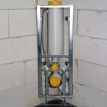 Missel Kompakt-Spülrohr MSR 6 Liter für Wand-WC, H: 96 cm DN 90