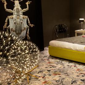moooi Raimond Tensegrity LED Bodenleuchte mit Dimmer