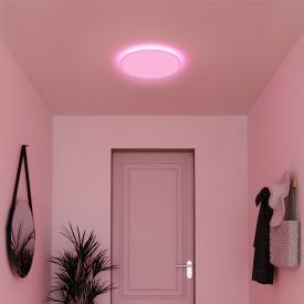 MÜLLER-LICHT tint Loris white+color RGBW LED Deckenleuchte mit Dimmer, rund