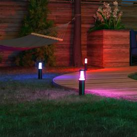 MÜLLER-LICHT tint Petunia white+color RGBW LED Sockelleuchte mit Dimmer, 3er Set