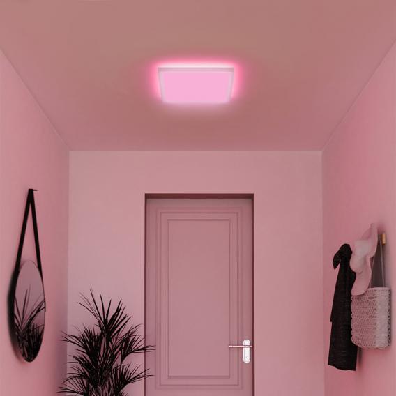 MÜLLER-LICHT tint Loris white+color RGBW LED Deckenleuchte mit Dimmer, quadratisch