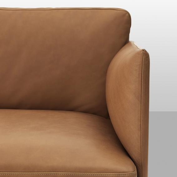 Muuto Outline Sessel, Echtleder