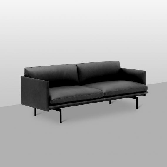 Muuto Outline Sofa, Echtleder