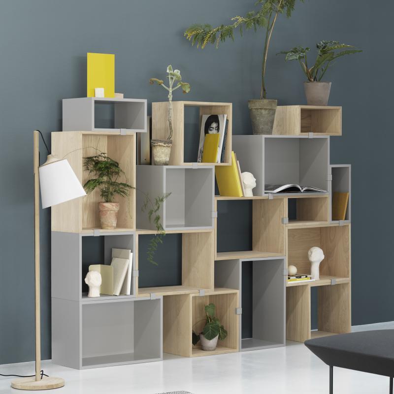 muuto stacked 2 0 regal mit r ckwand 15635 reuter. Black Bedroom Furniture Sets. Home Design Ideas