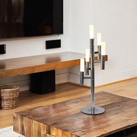 Näve Candle LED Tischleuchte mit Dimmer 5-flammig
