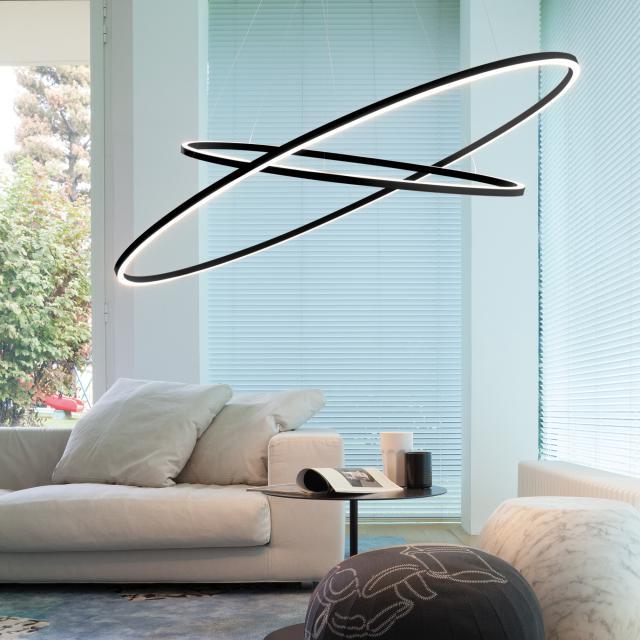 NEMO ELLISSE DOUBLE LED uplight/downlight Pendelleuchte