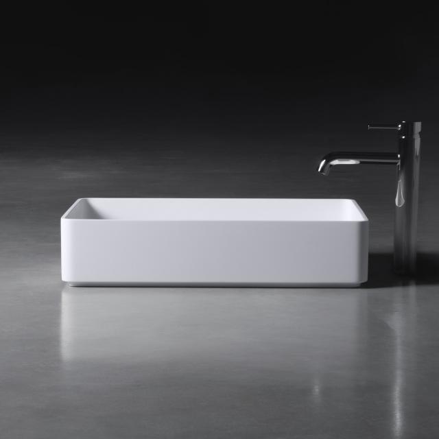 neoro n50 Aufsatzwaschtisch B: 58 H: 13 T: 37 cm, mit pflegeleichter Oberfläche