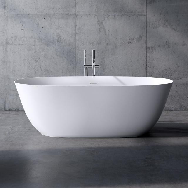 neoro n50 Freistehende Badewanne L: 180 B: 80 H: 58 cm, mit pflegeleichter Oberfläche