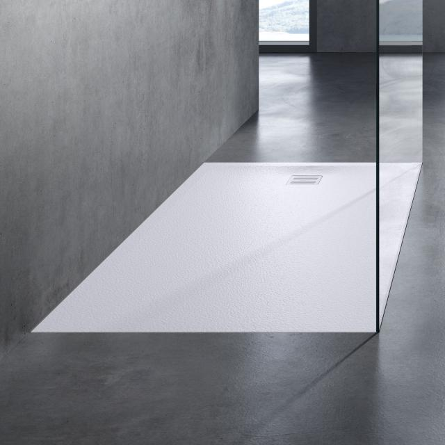 neoro n50 Rechteck-Duschwanne Komplett-Set weiß struktur, mit rutschhemmender Oberfläche
