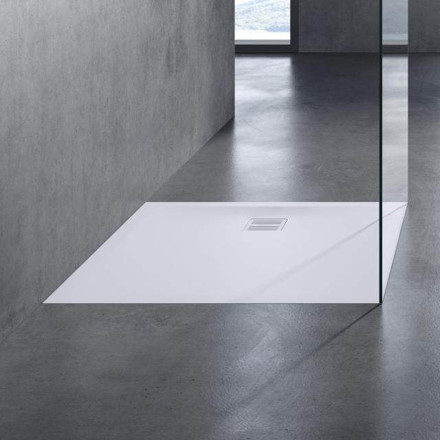 neoro n50 Rechteck-Duschwanne Komplett-Set weiß matt