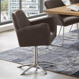Niehoff COMFORTA Stuhl mit Armlehnen und Sternfuß, drehbar