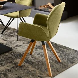 Niehoff MERLOT Stuhl mit Armlehnen und Stativgestell, drehbar