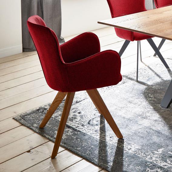 Niehoff AVALON Stuhl mit Armlehnen und Stativgestell aus Massivholz, drehbar