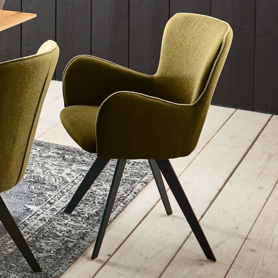 Niehoff AVALON Stuhl mit Armlehnen und Stativgestell, drehbar