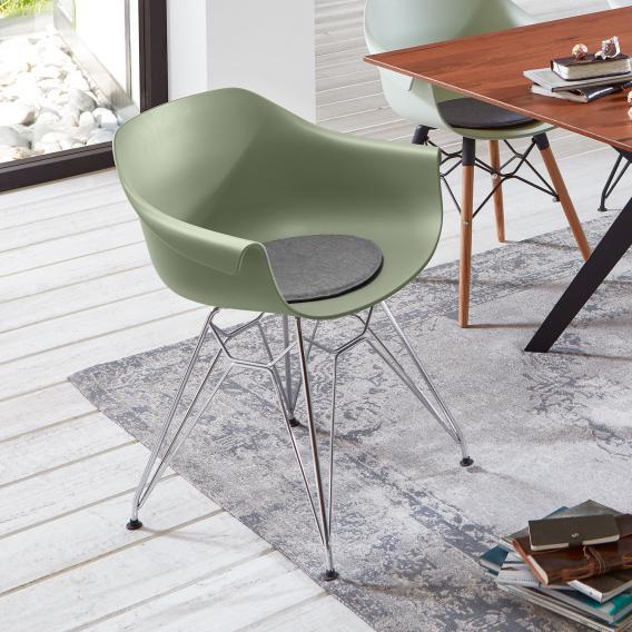 Niehoff TULIP Stuhl mit Armlehnen und Eifelturmgestell