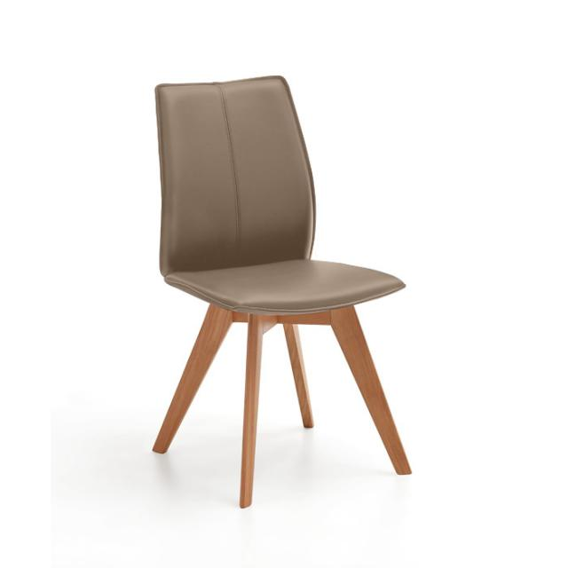 Niehoff AMALFI Stuhl mit Stativgestell, Echtleder