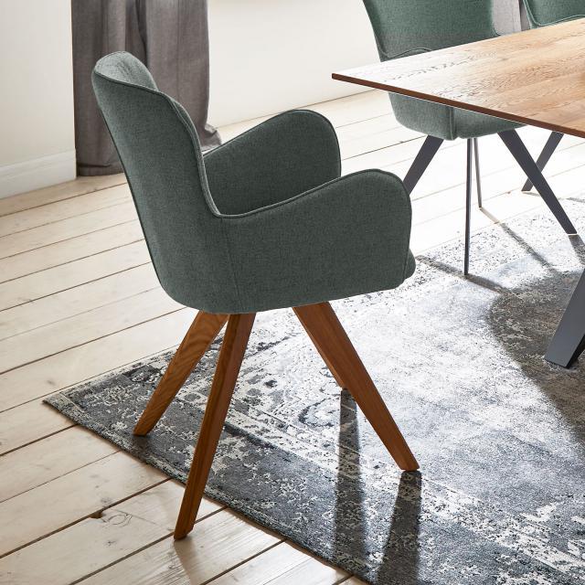 Niehoff AVALON Stuhl mit Armlehnen und Stativgestell aus Massivholz