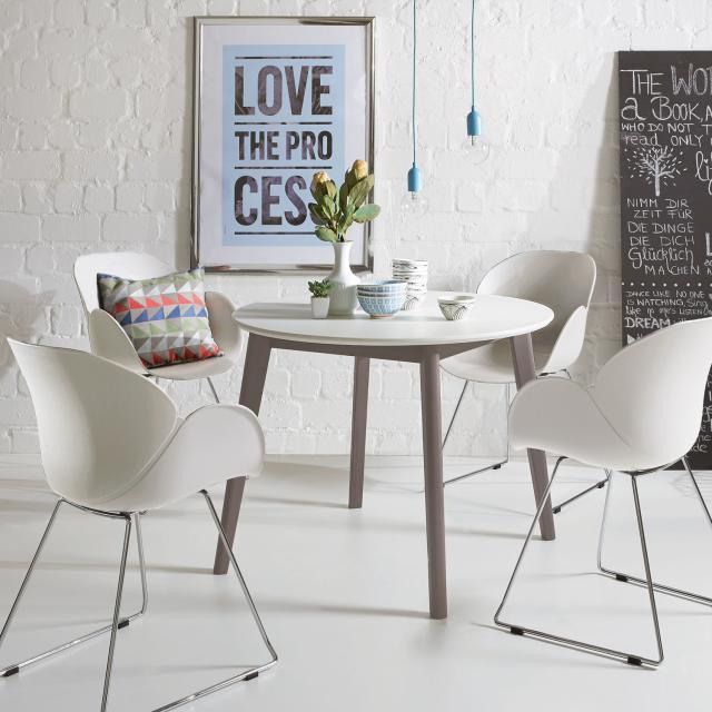 Niehoff SUSHI Stuhl mit Armlehnen und Kufen