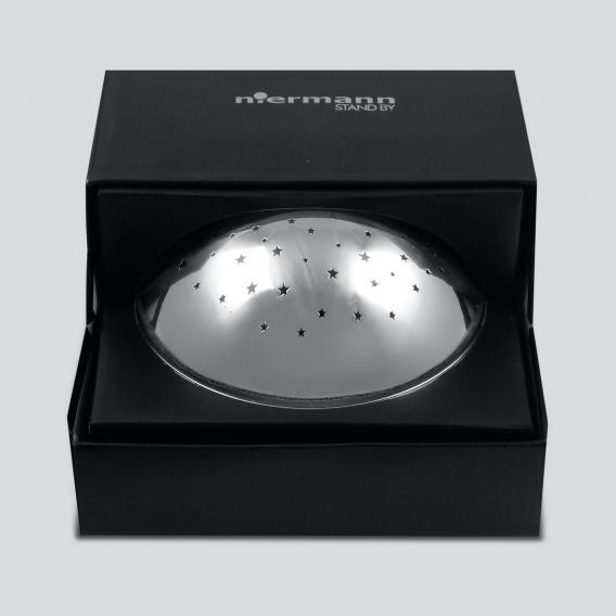 Niermann Standby Chrom Projektor LED Nachtlicht Tischleuchte mit Dimmer