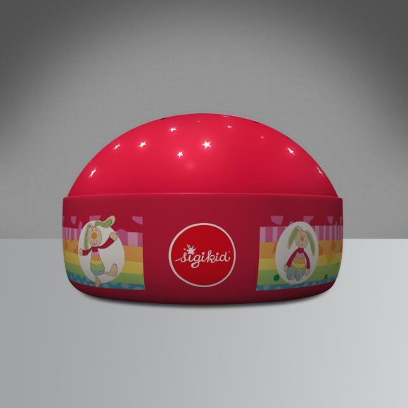 Niermann Standby Rainbow Rabbit LED Nachtlicht Tischleuchte mit Dimmer Ø 12 H: 8 cm, rot 80062