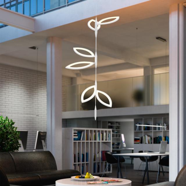 OLIGO FLAVIA LED Pendelleuchte Set 3x2 Blatteinheiten
