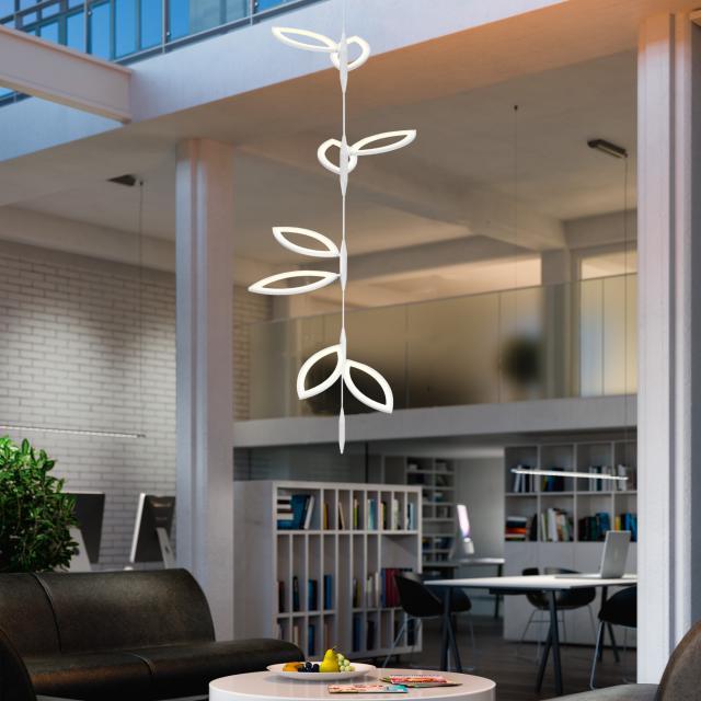 OLIGO FLAVIA LED Pendelleuchte Set 4x2 Blatteinheiten
