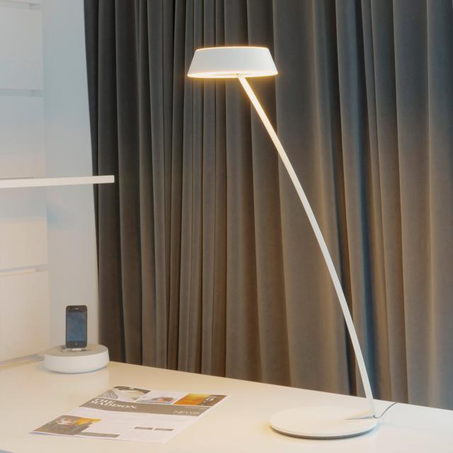 OLIGO GLANCE LED Tischleuchte gebogen mit Dimmer