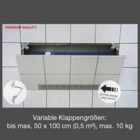 Ottofond Alpro 2000 Revisionsklappe mit Lüftungsgitter aluminium silber-eloxiert