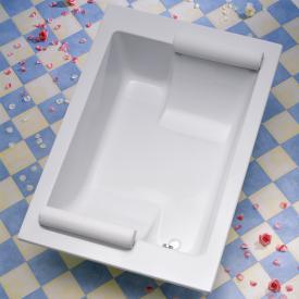 Ottofond Maharaja Rechteck-Badewanne weiß für 2 Personen mit Wannenträger